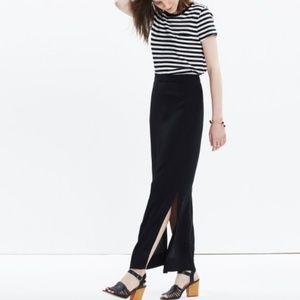 Madewell Black Address Maxi Skirt